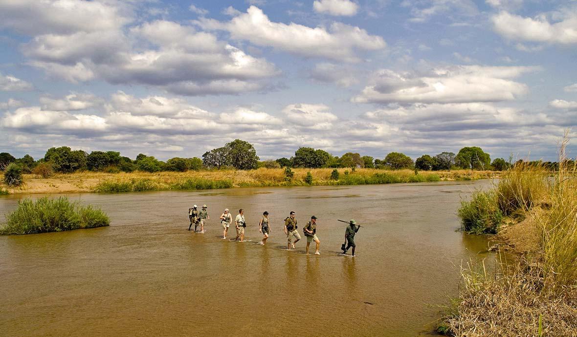Adventurers in Mana Pools National Park, Zimbabwe